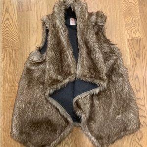 Reversible faux fur vest size XS